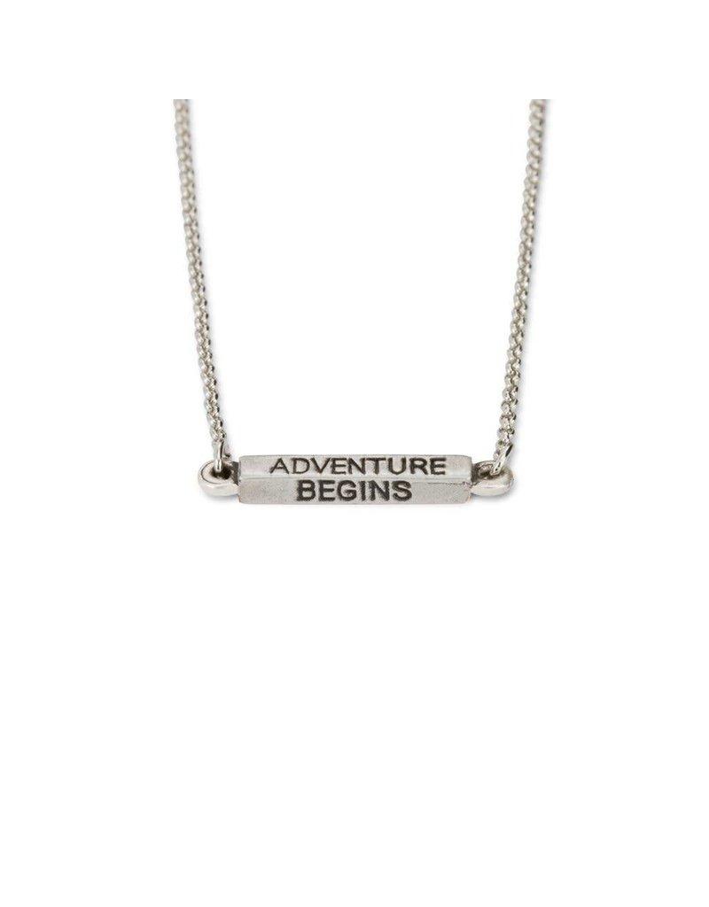 Luca & Danni Adventurine Begins Necklace, Silver