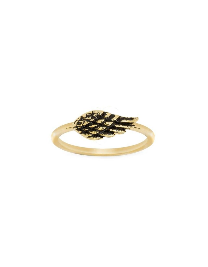 Luca & Danni Angel Wing Ring, Gold