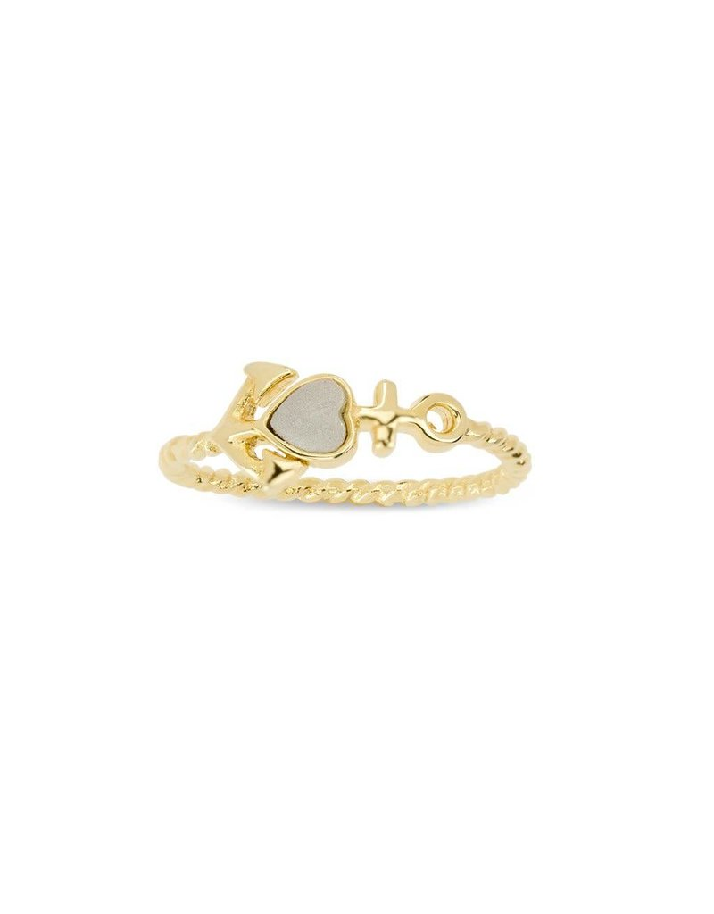 Luca & Danni Anchor Ring, Gold