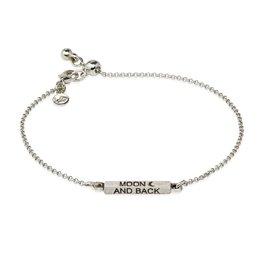 Luca & Danni Moon and Back, Slider Bracelet, Silver