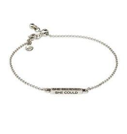 Luca & Danni She Believed , Slider Bracelet, Silver