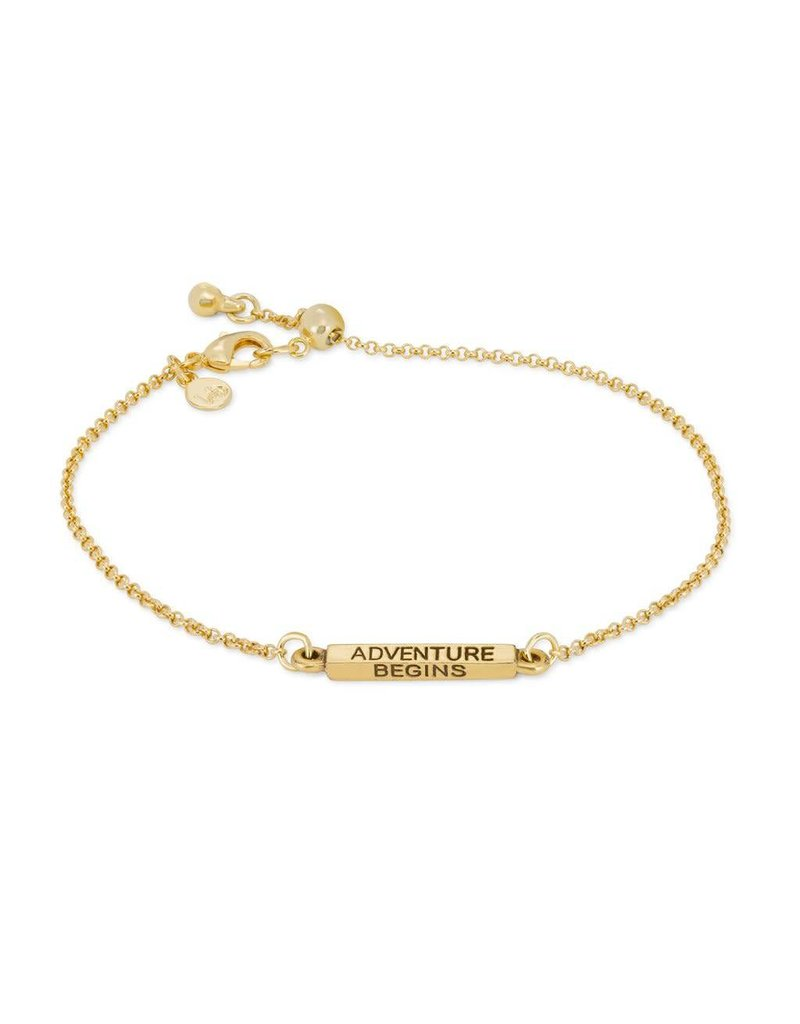Luca & Danni Adventure Begins, Slider Bracelet, Gold