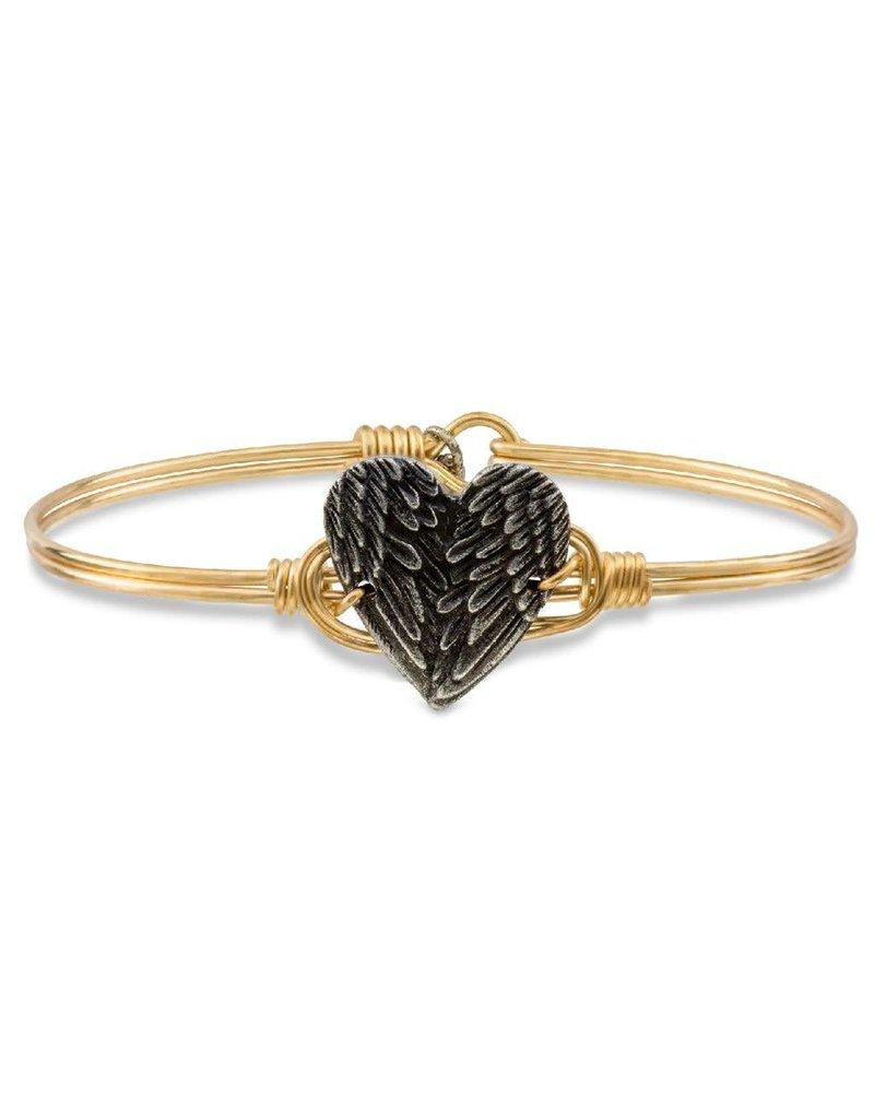 Luca & Danni Angel Wing Heart on Brass Ox Wire Wrapped Bracelet