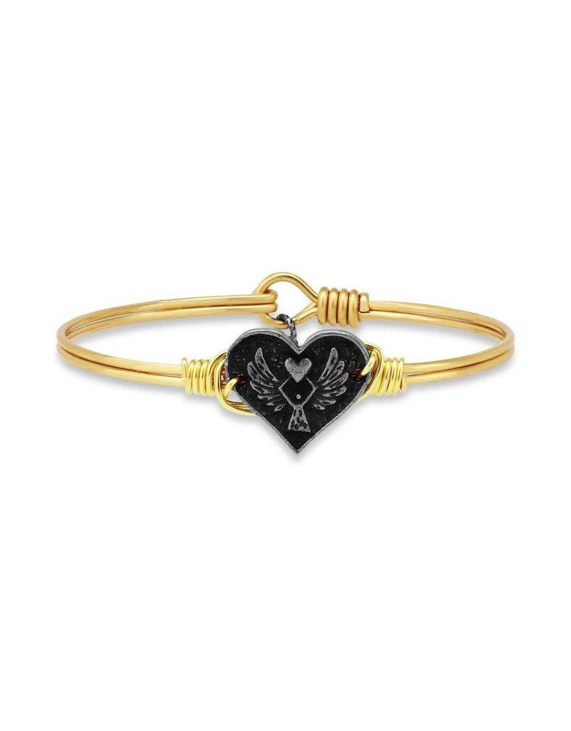 Luca & Danni Angel Heart  Brass Wire Bracelet