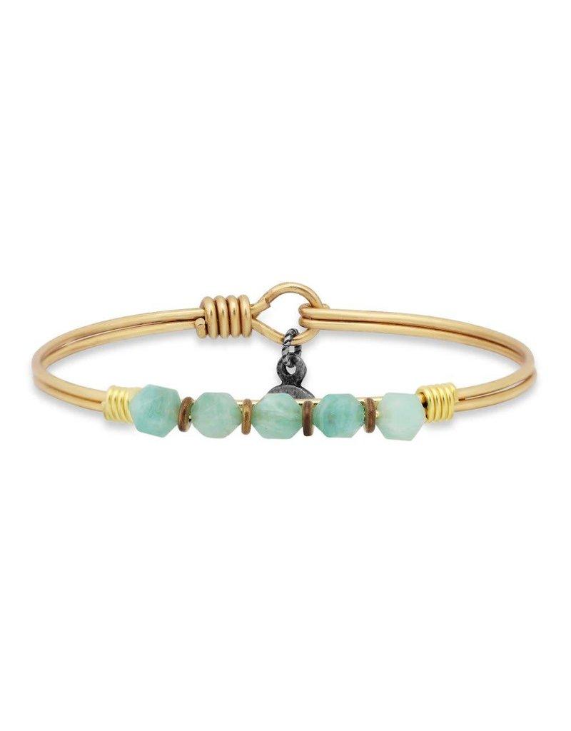 Luca & Danni Amazonite Beaded Brass Wire Wrapped Bracelet
