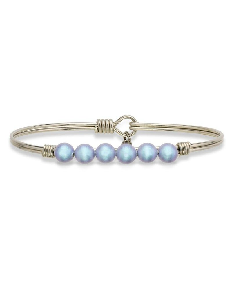 Luca & Danni Aqua Pearl on Silver Wire Wrapped Bracelet