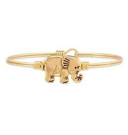 Luca & Danni Golden Elephant Bangle, Gold