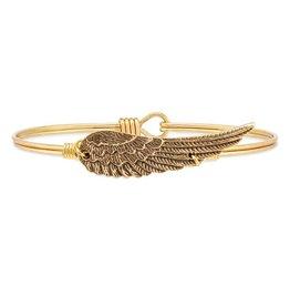 Luca & Danni Golden Angel Wing Bangle, Gold