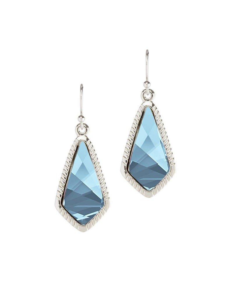 Luca & Danni Aqua Sloane Earrings Silver