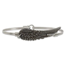 Luca & Danni Angel Wing on Silver Wire Wrapped Bracelet
