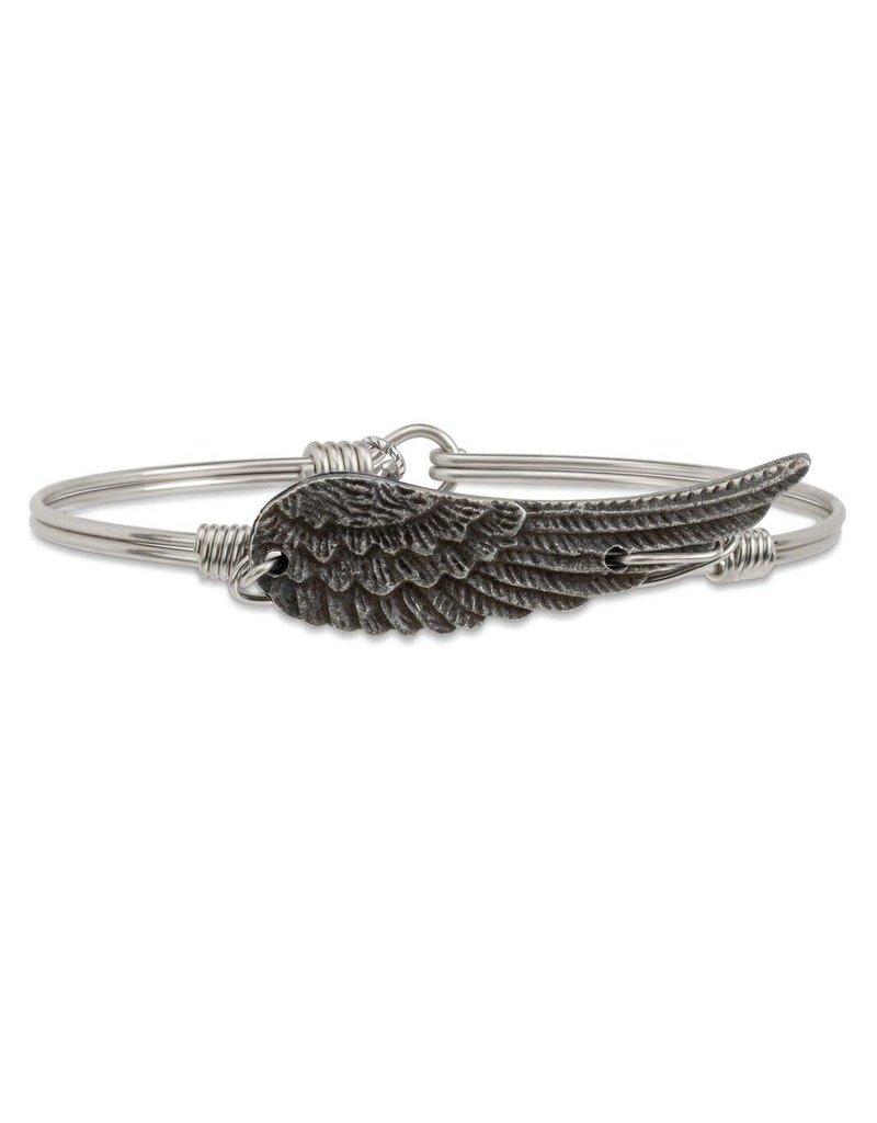Luca & Danni Angel Wing on Silver Wire Wrapped Bracelet