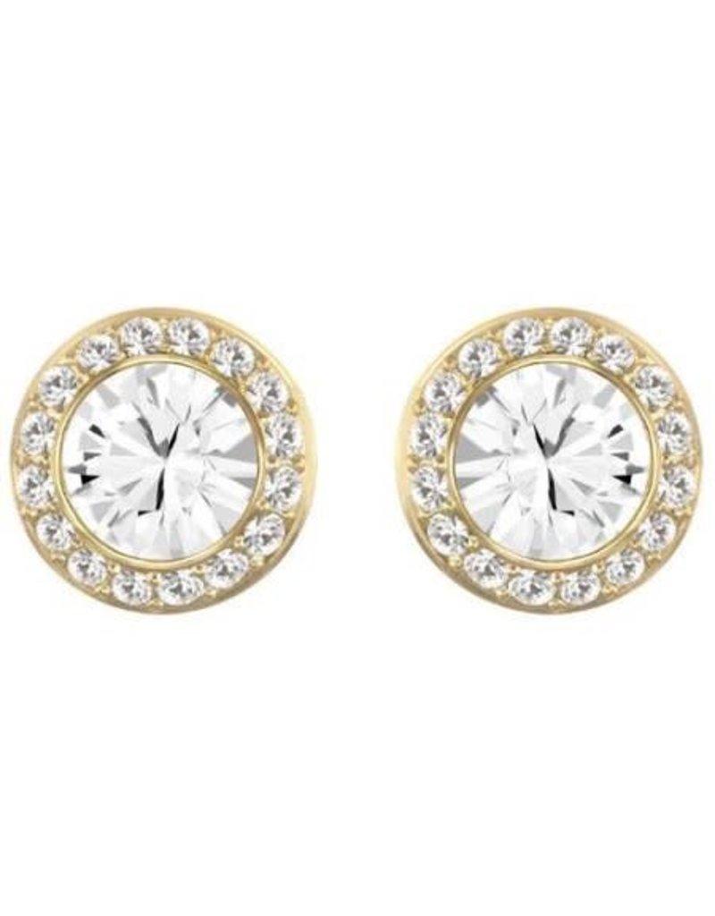 Swarovski Angelic Pierced Earrings, White, Gold Plating
