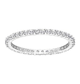 Swarovski Vittore Ring, White, Rhodium Plating 55 (US 7)