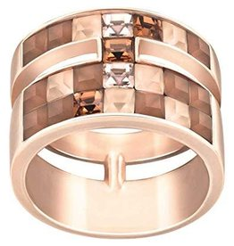 Swarovski V&R Frozen Crystal Ring, Multi-colored, Rose Gold Plating Size 55 (US 7)