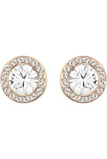 Swarovski Angelic Pierced Earrings, White, Rose Gold Plating