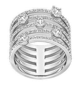 Swarovski Creativity Ring, White, Rhodium Plating 60 (US 9)