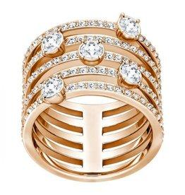 Swarovski Creativity Ring, White, Rose Gold Plating 50 (US 5)