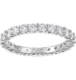 Swarovski Vittore XL Ring, White, Rhodium Plating 55 (US 7)