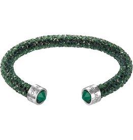 Swarovski Crystaldust Cuff, Green, Stainless Steel M