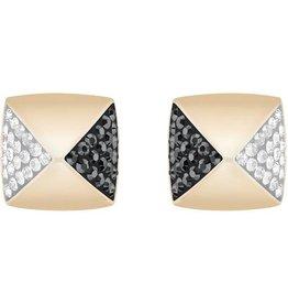 Swarovski Glance Stud Pierced Earrings, Multi-colored, Rose Gold Plating
