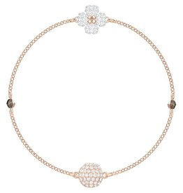 Swarovski Remix Collection: Clover Bracelet, White, Rose Gold Plating