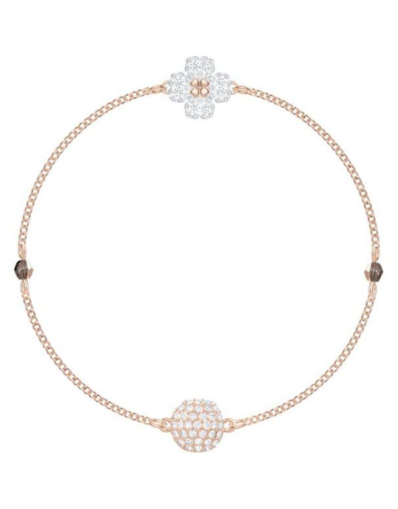Swarovski Remix Collection: Clover Bracelet, White, Rose Gold Plating