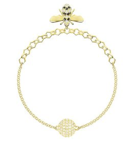 Swarovski Remix Collection: Bee Bracelet, Black, Gold Plating