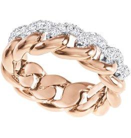 Swarovski Lane Ring, White, Rose Gold Plating 55 (US 7)