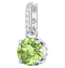 Swarovski August Birthstone Charm, Light Green, Rhodium Plating