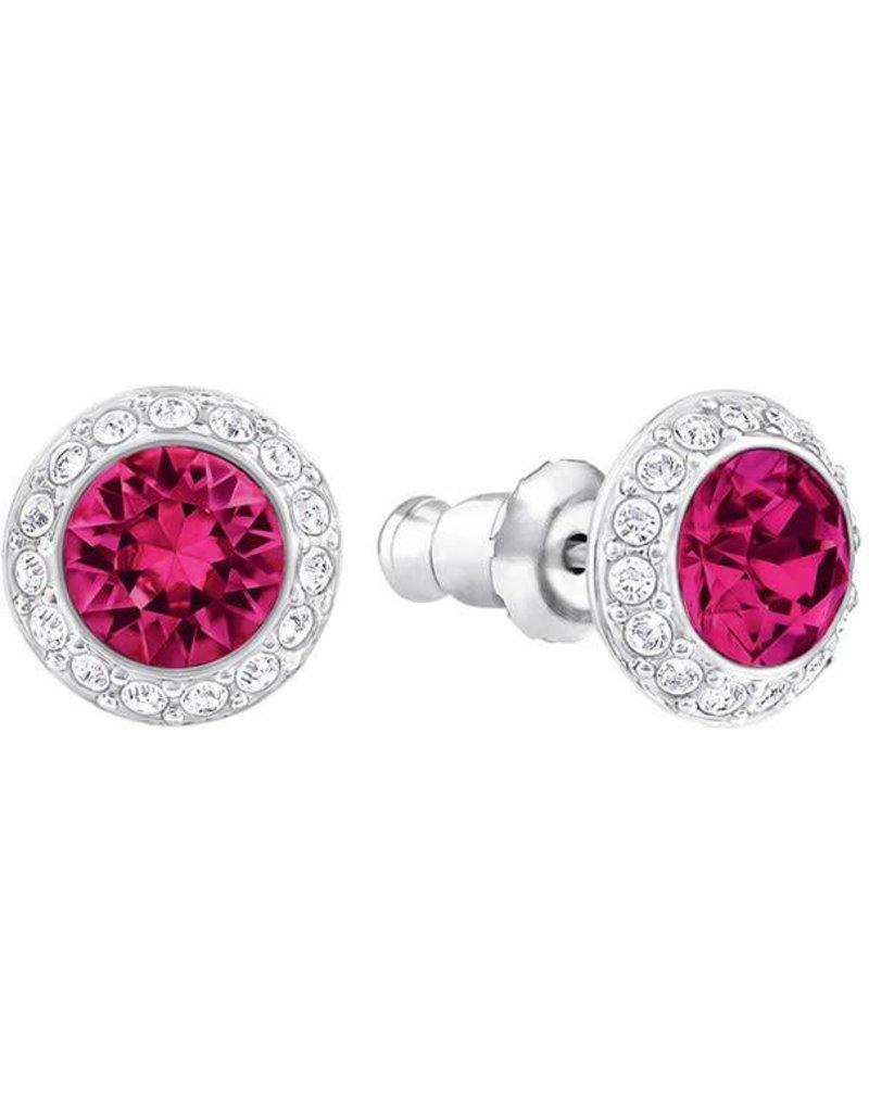 Swarovski Angelic Pierced Earrings, Red, Rhodium Plating