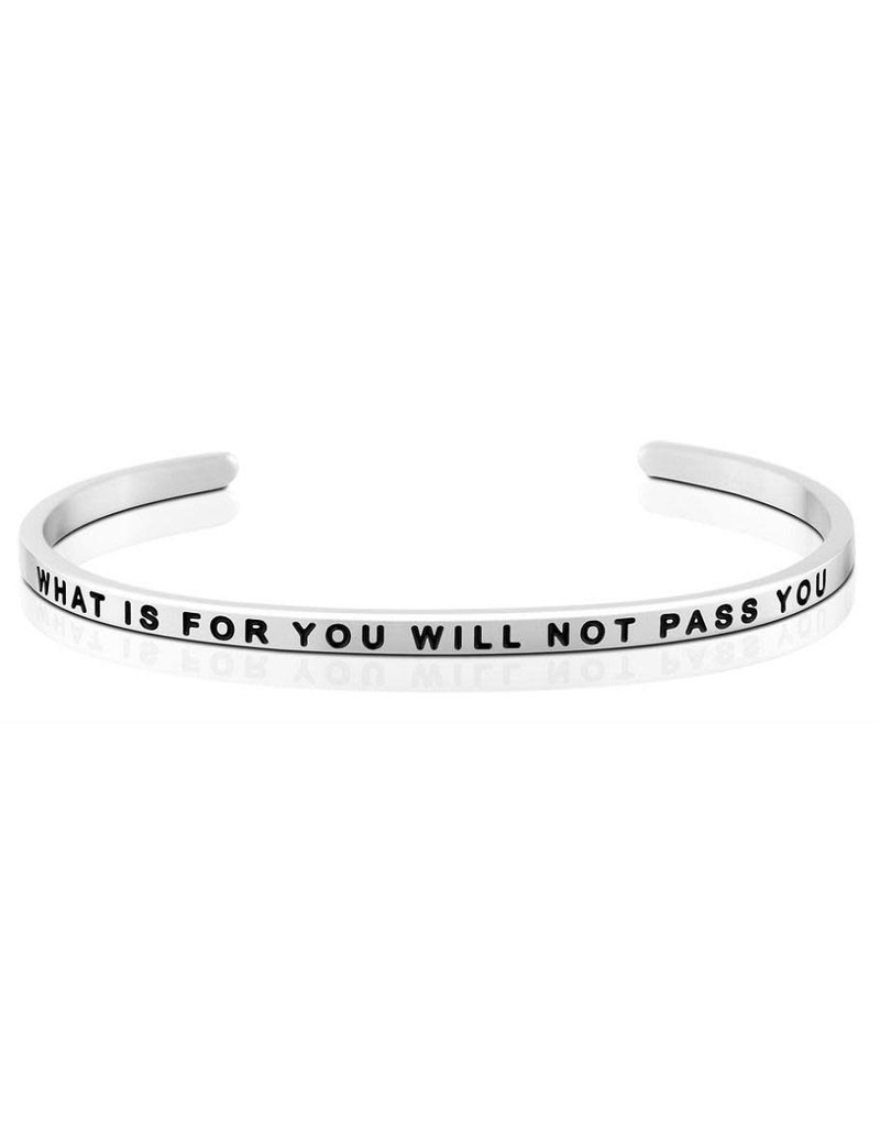 Mantraband What is for You Will Not Pass You Bracelet Silver