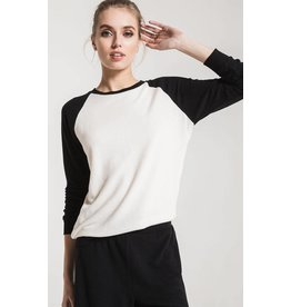 Z Supply The Soft Spun Knit Raglan Pullover, Black