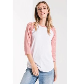 Z Supply The Stardust Baseball Tee, Old Rose