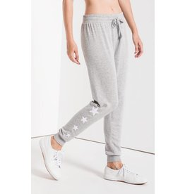Z Supply The Linear Star Jogger, Heather Grey