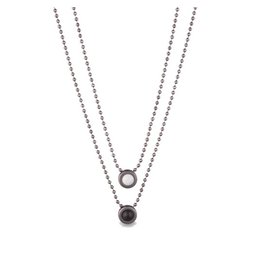 Lokai Double Ball Chain - Gunmetal