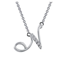 Lafonn Designer Pave Initial N Necklace