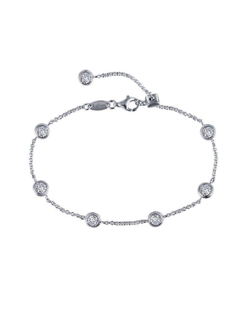 Lafonn Adjustable Bracelet Sterling Silver Platinum (7.5'')