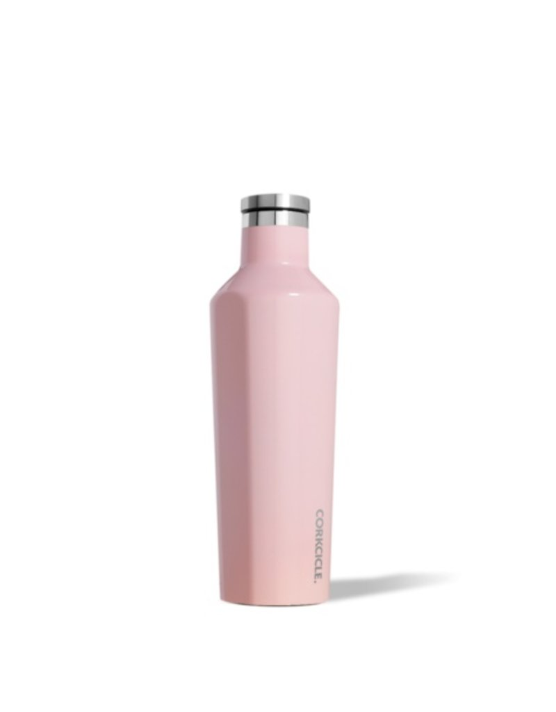 Corkcicle 16oz Canteen- Gloss Rose Quartz