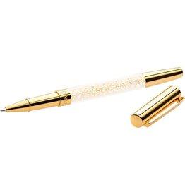 Swarovski Crystalline Stardust Rollerball Pen, Pale Gold Plating