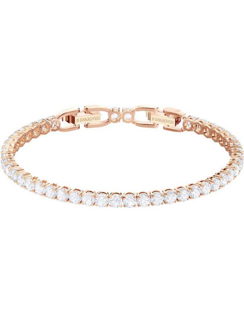 Swarovski Tennis Bracelet, White, Rose Gold Plating