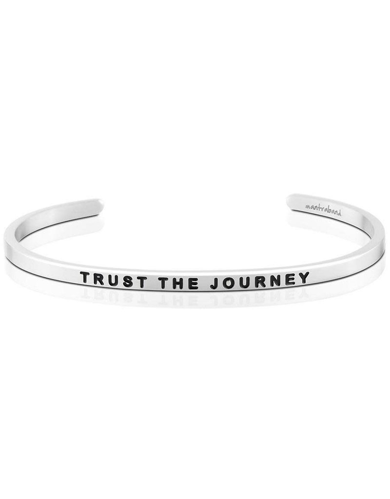 Mantraband Trust The Journey, Silver