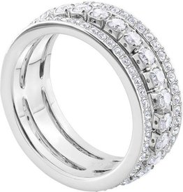 Swarovski Further Ring, White, Rhodium Plating