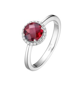 Lafonn January Birthstone Ring, Garnet