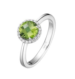 Lafonn August Birthstone Ring, Peridot and Lassaire .20 CTTW