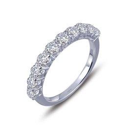 Lafonn Sterling Silver Platinum 10 Stone Ring, Simulated Diamond 1.1 CTTW