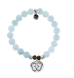 Tiffany Jazelle Core Collection Bracelet, Blue Aquamarine, Baby Feet
