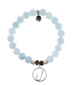 Tiffany Jazelle Core Collection Bracelet, Blue Aquamarine, Fish Hook