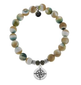 Tiffany Jazelle Core Collection, Pearl Shell, Compass