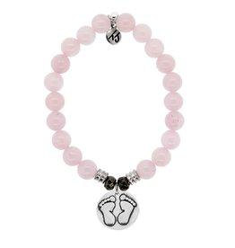 Tiffany Jazelle Core Collection Bracelet, Rose Quartz, Baby feet