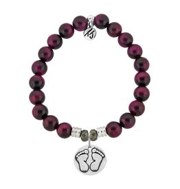 Tiffany Jazelle Core Collection Bracelet, Pink Tiger's Eye, Baby Feet